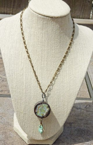 Medicine case Pendant with Turquoise