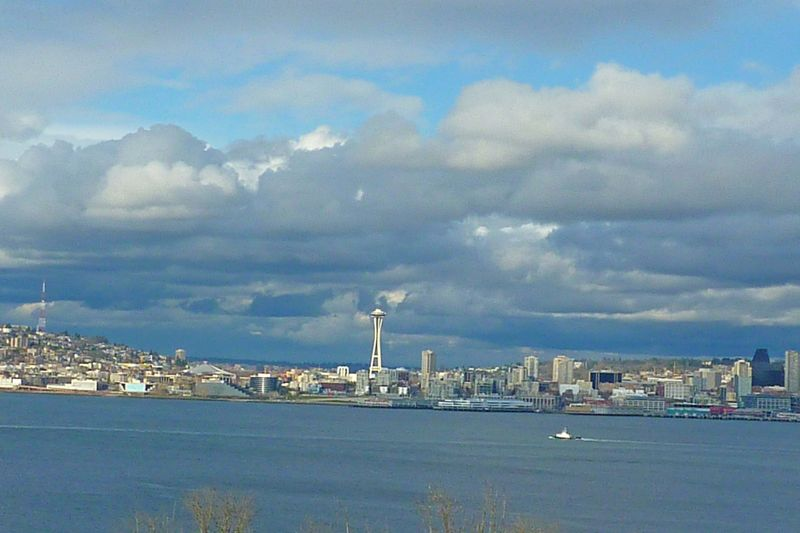 Clouds over Seattle in April2